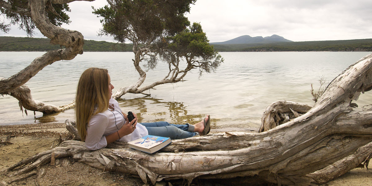 Bird watching at the Hamersley Inlet, located in the Fitzgerald River National Park