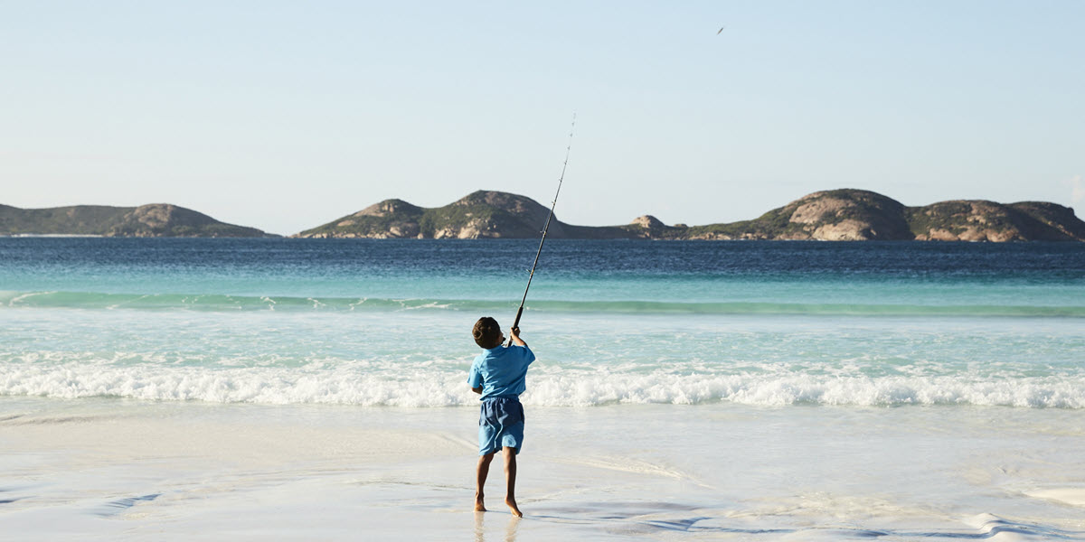 Fishing at Lucky Bay, Cape Le Grand National Park