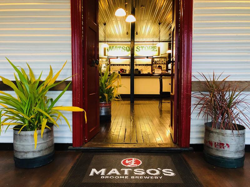 Matso's Broome Brewery enterance, Western Australia.