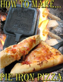 easy camping recipes - pie iron pizza