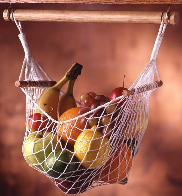 Fruit hammock gimmicky caravan storage option
