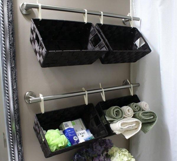 caravan bathroom towel rack storage ideas