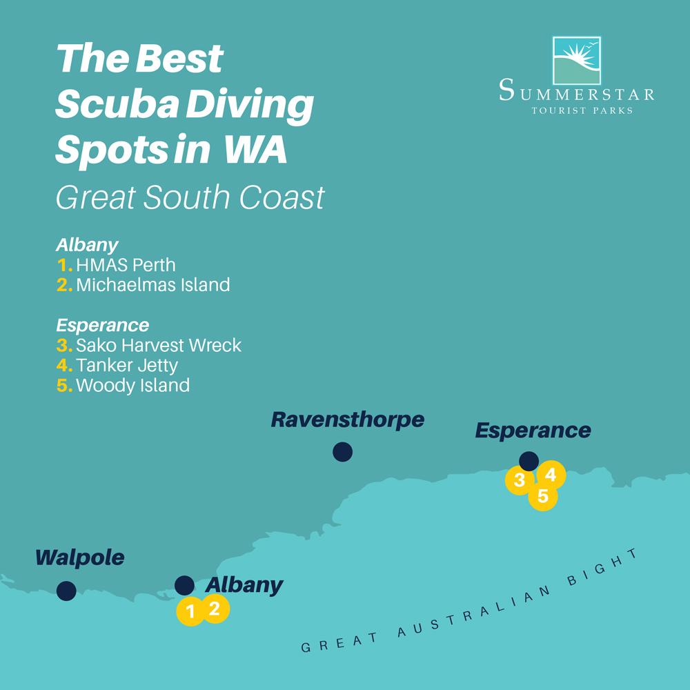The Best Sruba Diving Spots in WA Great South Coast.