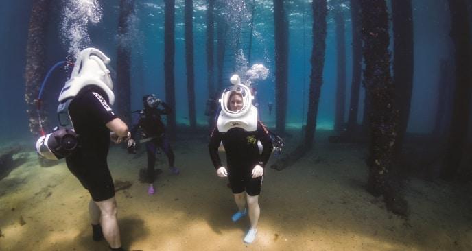 Undersea walks at Busselton Jetty.