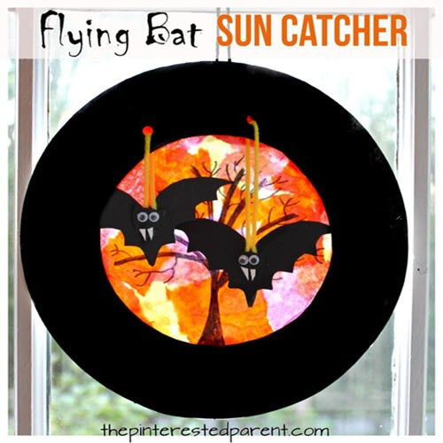 flying bat sun catcher arts and crafts halloween