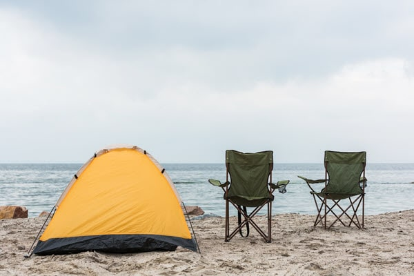camping in hot humid weather beach
