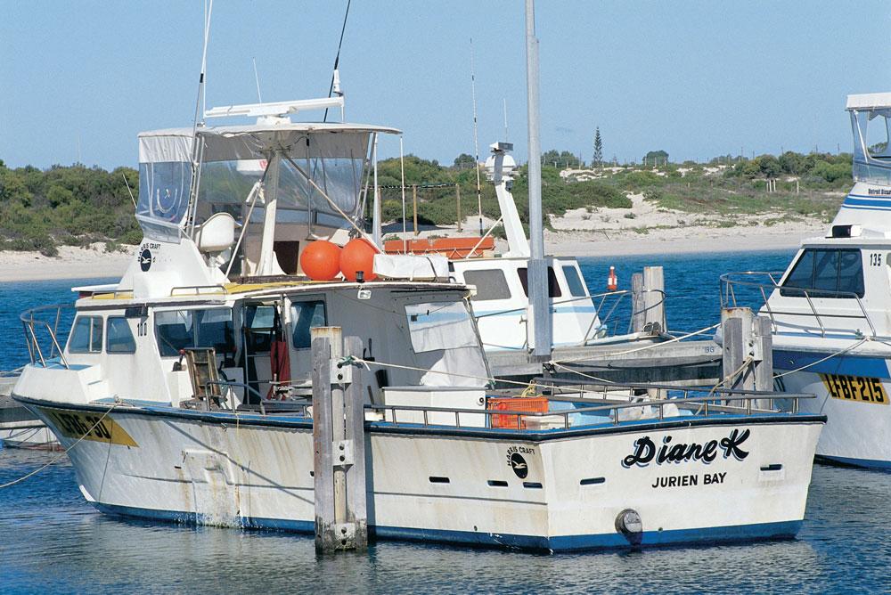fishing boats in jurien harbour