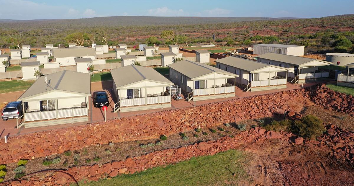 Kalbarri accommodation options at Kalbarri Red Bluff Tourist Park.