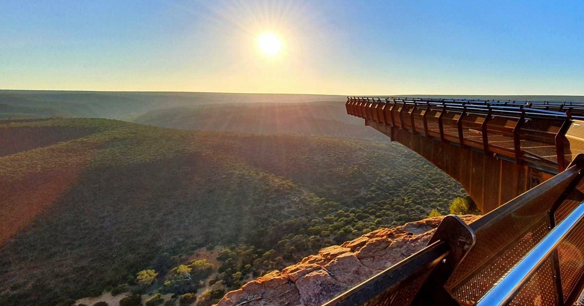 Kalbarri Skywalk at Kalbarri National Park in Western Australia.