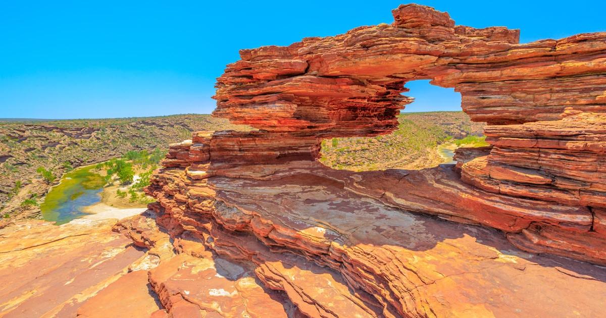 Nature's Window at Kalbarri National Park in Western Australia.