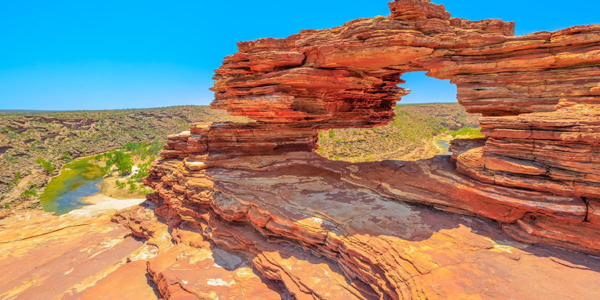 kalbarri skywalk natures window national park