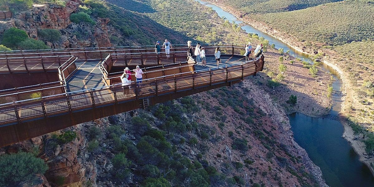 kalbarri skywalk western australia overlooking kalbarri national park