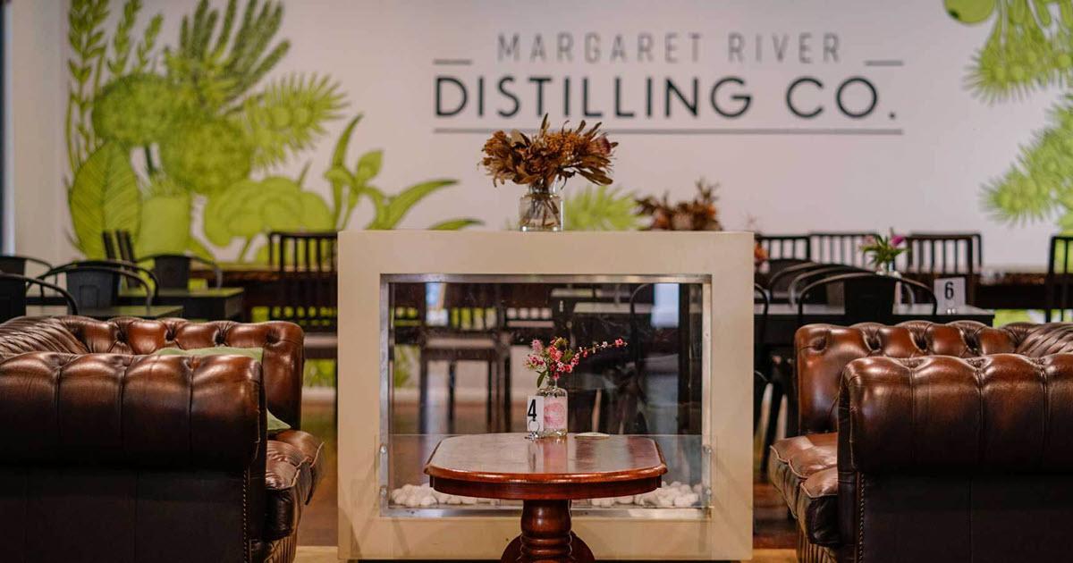 Restaurant at Margaret River Distilling Co in Margaret River, WA.