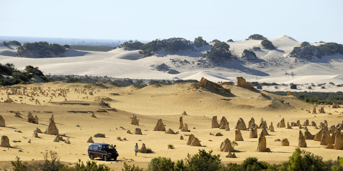 nambung pinnacles desert view