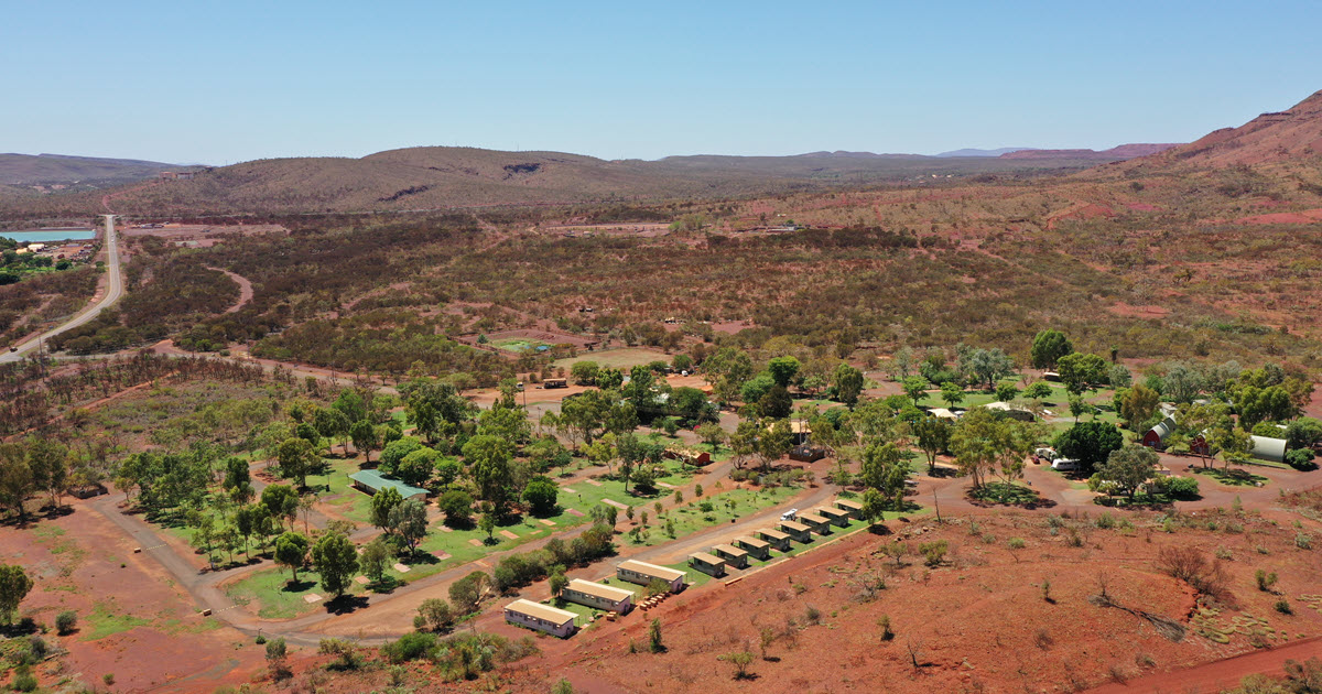 Orange landscape shot in Tom Price, Western Australia.