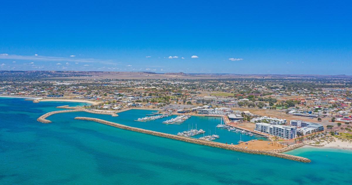 Geraldton Marina ocean views, Western Australia.