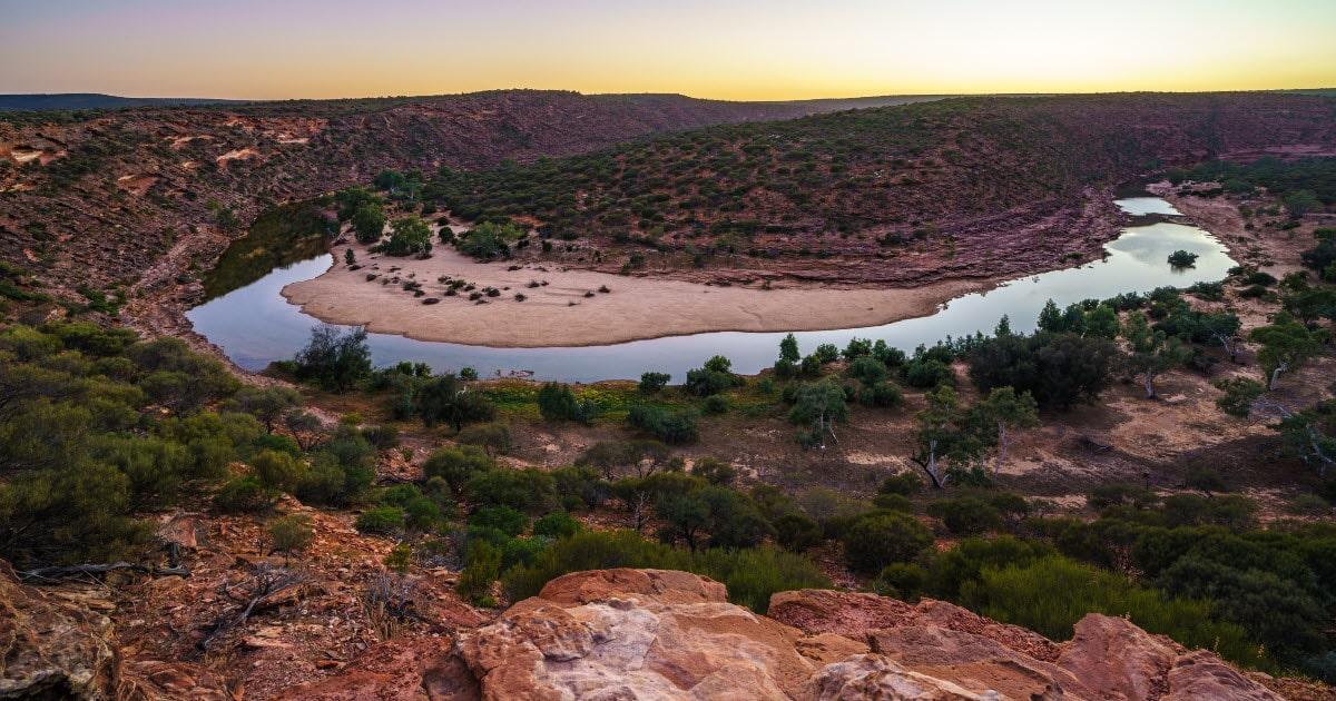 View over Kalbarri National Park, Western Australia.