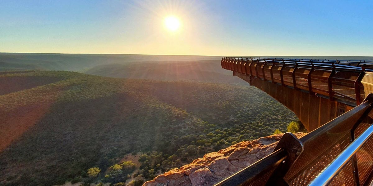 kalbarri skywalk sunrise kalbarri national park